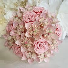 Paper Origami Flower Bouquet Paper Flowers Bouquet Origami Bridal Stationary Uk Rustic Romantic
