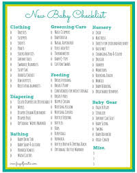 list of items needed for baby baby checklist free printable frugal fanatic