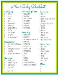 Baby Checklist Free Printable Frugal Fanatic