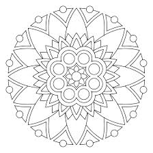 Elephant Mandala Coloring Pages Easy Coloring Pages Easy Mandala