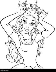 Disney Princess Coloring Pages Free To Print Belle Coloring Pages