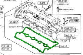 flyin' miata valve cover gasket (non vvt 1 8 engine) nb miata exhaust diagram at Miata Exhaust Diagram