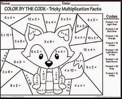 multiplication coloring sheets 3rd grade free printable math turkey