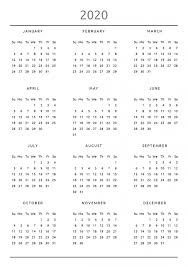 2020 16 Calendar Printable 2019 2020 Printable Calendar For 2 Years