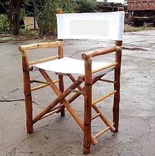 Bamboo Rattan Folding Director Chair Image