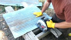 cutting corrugated metal panels how to cut