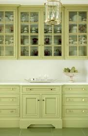 image of kitchen cabinets green