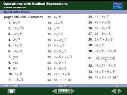 Simplifying Radicals Worksheet No Variables Worksheets for all ...