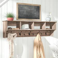Wall Mounted Coat Rack With Hooks And Shelf Coat Shelves Coat Racks Hooks Shelves Birch Lane Throughout Wall 78