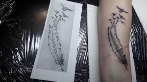 татуировка перышко нежная татуировка для девушки примерные цены здесь Eli Storcom