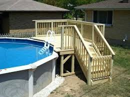 full size of above ground pool decks kits deck alluring wooden back yard pertaining to plan