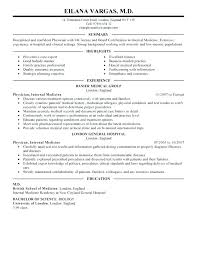 doctor cv sample physician cv template physician resume template impressive medical