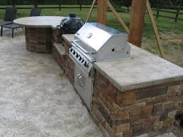 outdoor kitchen concrete countertops home inspirations