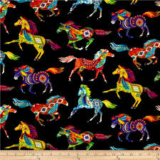 Timeless Treasures Out West Southwest Horses Brite - Discount ... & Timeless Treasures Out West Southwest Horses Brite - Discount Designer  Fabric - Fabric.com Adamdwight.com