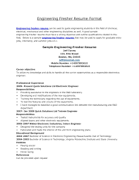 Standard Resume Format For Mechanical Engineers Pdf Resume Format