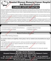 Consultants & Medical Officer Required For Peshawar 2018 Shaukat ...