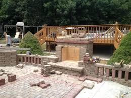 brick outdoor fireplace outdoor fireplace kits