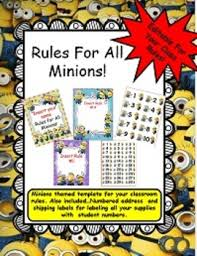 classroom rules template rules poster templates minion themed editable for your classroom rules