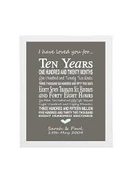 10th wedding anniversary gift personalised anniversary print tenth anniversary gift 10th anniversary present anniversary gifts for men anniversary
