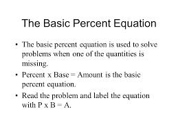 the basic percent equation