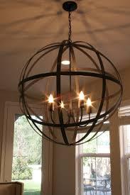 iron globe chandelier designs
