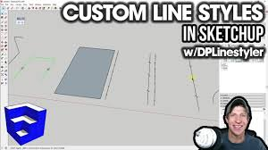 There are some basic tips we need to keep in mind when drawing lines in sketchup 18. Custom Line Styles In Sketchup With Dplinestyler Youtube