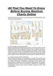 All That You Need To Know Before Buying Nautical Charts