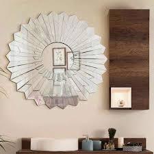 w stylish round frame decorative mirror design