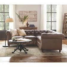 home decorators collection gordon 3 piece brown bonded leather
