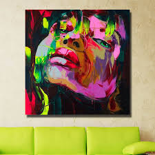 painting supplies abstract face painting on canvas living room wall decor portrait art artist oil painting no framed in painting calligraphy from home
