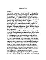 essay about apartheid in south africa  apartheid essays and papers 123helpme com