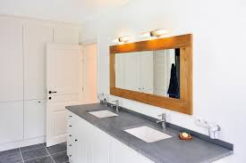 above mirror bathroom lighting. Bathroom Light Above Mirror Lighting Modern Lights With Cylinder Wooden Frame On Grey Counter Top Vanity F