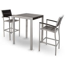 Trex Outdoor Furniture TXS1261 Surf City 3 Piece Bar Set Three Piece Outdoor Furniture