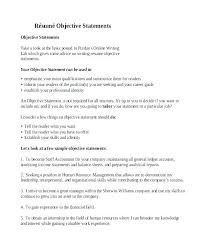 Marketing Resume Objective Inspirational Resume Objective Statements