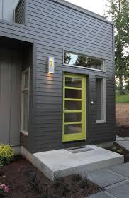modern front doorsModern Front Door with exterior stone floors by Jordan Iverson