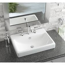 lowes drop in sink. Modren Drop AquaSource White Fire Clay DropIn Rectangular Bathroom Sink With Overflow   Loweu0027s Canada For Lowes Drop In I