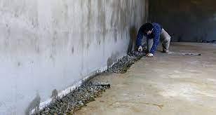 interior basement waterproofing work
