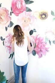 flower wall decals this year is all about the watercolor accents and these oversized fl wall