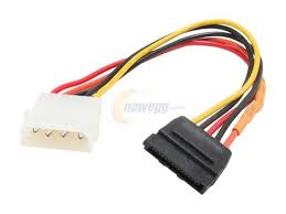 how can i use an old pata hard disk drive on my newer sata only molex 4pin male to 15pin sata power cable