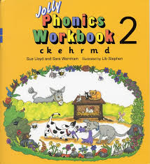 Can hear the end sound of a word. Jolly Phonics Workbook 2 C K E H R M D