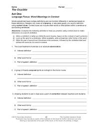 Arthur Miller Crucible Common Core Teaching Guide (DL)