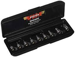 VIM Hand Tools Stubby <b>Hex Drive</b> Set, 9 <b>piece</b> SAE / <b>1</b>/4-Inch ...