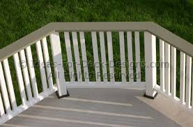 deck railing ideas styles for top and