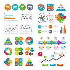 Business Data Pie Charts Graphs Calendar Icons May June July