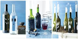 Wine Bottles Decoration Ideas Wine Bottle Decorations Turn Empty Glass Vessels Into Scary 90