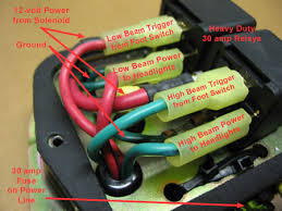 redfalken web headlight relays headlight wiring gauge Headlight Wiring Gauge 10 gauge wire to the battery and 14 gauge for the other wires the ground wire runs under the unit and uses the same screw that attaches the unit to the