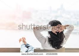 city lifestyle happy easy simple living day time life style rear back view of asian awesome office table top view shutterstock id