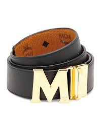 M Designer Belt Mcm Visetos Reversible M Buckle Monogram Belt Mcm Belt