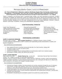 Sample Transportation Management Resume Supply Chain Manager Resume