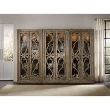 Curio Cabinet Lights Hooker Furniture 5291 50001 Solana Bunching Curio Cabinet In Light